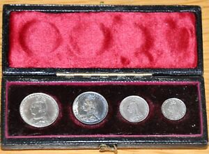 Maundy Money Set - Queen Victoria 1888 with  Case. Toned GVF / NEF Jubilee Head