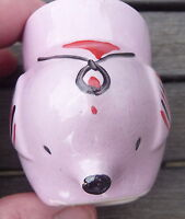VINTAGE HAND PAINTED PINK PIG EGGCUP  DISPLAY COLLECT MORE AVAILABLE