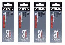 Balles de tennis de table: STIGA 3 STAR effectuer en plastique blanc x 72 Pack ITTF Approuvé