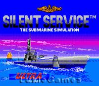 Silent Service - NES Nintendo Submarine Game