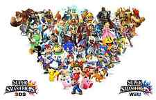 New Super Smash Bro's Team -  Huge Poster  22 inch  x 34 inch ( Fast Shipping )