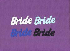 BRIDE word wedding die cuts scrapbook cards