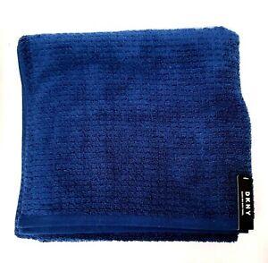NEW DKNY NAVY BLUE 100% COTTON QUICK DRY BATH,HAND,5 WASHCLOTHE TOWELS-OEKO TEX