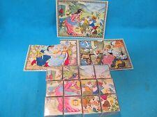 Vintage Lungers Hausen Fairy Tale Plastic Picture Puzzle Blocks