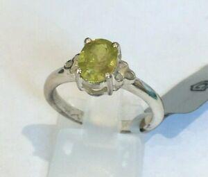 Gemporia 925 Sterling Silver 1.47CT Ambilobe Sphene /Titanite Ring Size N