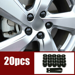 20pcs 17mm Car Hub Screw Cover Car Wheel Nut Caps Bolt Rims & Clip For VW Audi