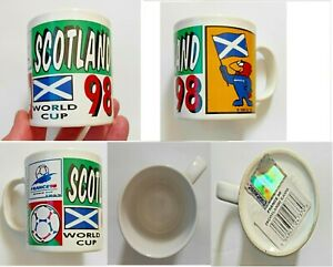 France Football Official World Cup 1998 Scotland Mug Merchandise (E) Mint Unused