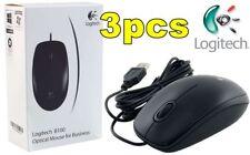 Bulk Lot 3 pcs x LOGITECH Optical USB Wheel/Scroll Mouse *NEW,CLEARANCE,BARGAIN*