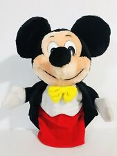 Vtg Classic Mickey Mouse Plush Hand Puppet Walt Disney Parks Exclusive 1980's