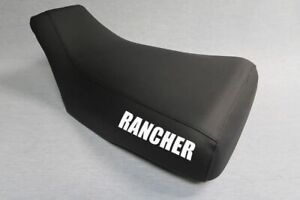 Fits Honda Rancher 420 Seat Cover 2007 To 2013 With Logo Black Color Standard