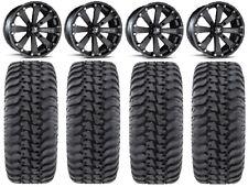 "MSA Black Kore 14"" UTV Wheels 32"" Regulator Tires Kawasaki Mule Pro FXT"