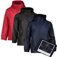 Kids Children Child Waterproof Boys Girls Hooded Rain Coat Jacket 3-12 yrs