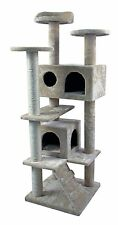 """50"""" Cat Tree Tower Condo Furniture Scratch Post Kitty Pet Play House Sisal Beige"""