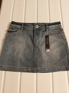 M & S USED-WASHED Look Denim Limited Collection Minirock Gr. 8 NEU