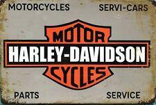 HARLEY DAVIDSON Garage Rustic Vintage Metal Tin Signs Man Cave, Shed & Bar Sign