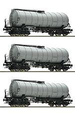 Roco 76155 Güterwagenset 3x Knickkesselwagen DR H0