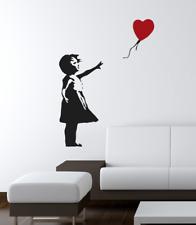 Wall Decal adesivo murale BANKSY GIRL WITH BALLOON bansky, Wall stickers, WALL
