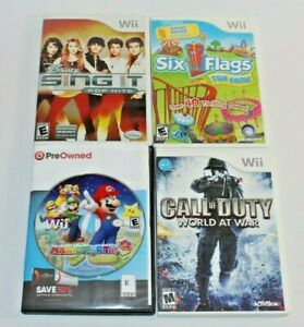 Lot of 4 Nintendo Wii Games! Tested & Work! Mario Party 9, Call of Duty & MORE!