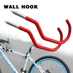 "New Bike Bicycle Wall Mounted BIKE Hanging HOOKS 6"" LARGE PVC coated UK Seller"