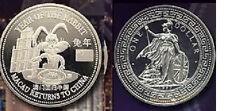 1999 Great Britain Large Proof China Rabbit Macau Roulette 1$