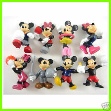 "RARE Set of 8 pcs Mickey Mouse Minnie Mouse Sport 1"" - 1.5"" Mini Action Figures"