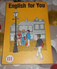 DDR + Schulbuch + English for you ++ Teil III   ++ 1984 ++ Englisch - Unterricht