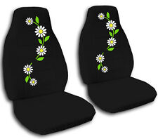 Fits 1994-1999 Ford Festiva  front set car seat covers  highback   daisy design