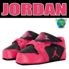 NEW NIKE JORDAN NEWBORN BABY GIRL'S 1ST CRIB SHOES -SIZE 1C 370305 PINK/BLACK
