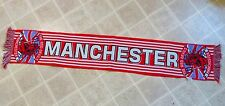 MANCHESTER Red Devils KNIT SCARF Soccer Team Made In Italy Italian Club Official