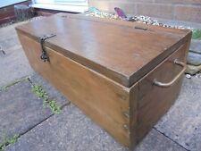 Pecho de pino sólido pesado vintage con caja de la vela, caja de herramientas Rústico Tronco