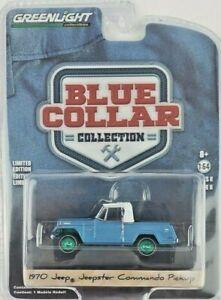 1/64 GreenLight Blue Collar Series 8 1970 Jeepster Commando Pickup Green Machine