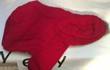 Snooty Dog Coat Spring Red Soft Plush. Fur Lined Hood Poly Lining 995 10-14 inch
