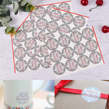 60x Vintage Christmas Snow Badge Design DIY Multifunction Sticker Gift Label W&C