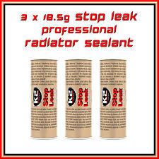 3 x 18.5g Stop Leak Radiator Sealant Pro Cooling System Additive Anti Corrosion