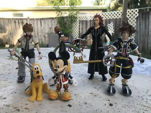Kingdom Hearts Diamond Select Toys All 5 Series 1 & 2 Mickey Goofy Donald