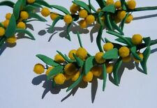 sugar AUSTRALIAN NATIVE WATTLE FLOWERS & LEAVES SPRAY cake topper decoration