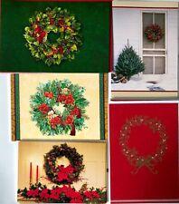 Lot 16 Beautiful Hallmark Quality Christmas Cards All Wreaths