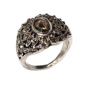 Edelstahl Ring mit Strass Modeschmuck Gr. 60 = 19,1 mm Silber