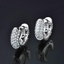813448e8346f 18K Oro Blanco Diamante Pendientes De Aro Criollo 312