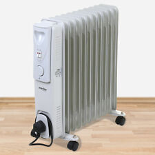 11 FIN 2500W PORTABLE ELECTRIC OIL FILLED RADIATOR HEATER ADJUSTABLE THERMOSTAT