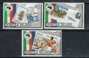 NORFOLK ISLANDS, SC 344-346 + 346a (souvenir sheet), 1984 Stamp Show issue. MNH