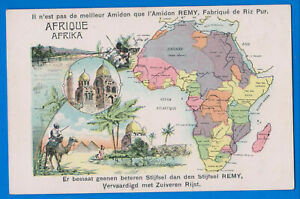 Afica, Madagascar, Congo, Maroc, Soudan, Egypt, Morocco, Somalia, old map postc