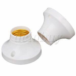 10 x E27 Round Plastic Socket Holder Base for E27 Screw Light Lamp Bulb AC 220V