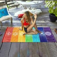 1Pc Chakra Mandala Bohemia Hanging Blanket Tapestry Summer Beach Towel Yoga I9H8