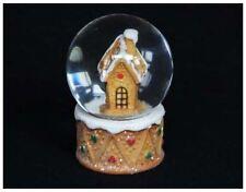 Gisela Graham Nordic Gingerbread House Snow Dome Globe Christmas Decoration Gift