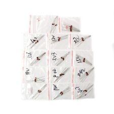 60 Pcs 1W 3.3V-30V 14 Values Zener Diode Assorted Kit 1N4728A-1N4751A