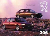 Peugeot 306 Prospekt 1994 D brochure prospectus brosjyre catalogue broschyr Auto