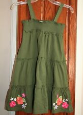 Gymboree SURF ADVENTURE NWT 7 Green knit convertible sundress/skirt Flowers !!
