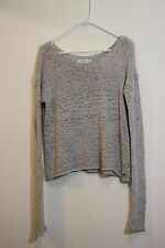 ABERCROMBIE Open Knit Grey Gray V Neck Sweater Sweater XS/S