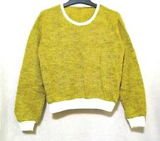 Lime Yellow Green Cotton Wool Sweater